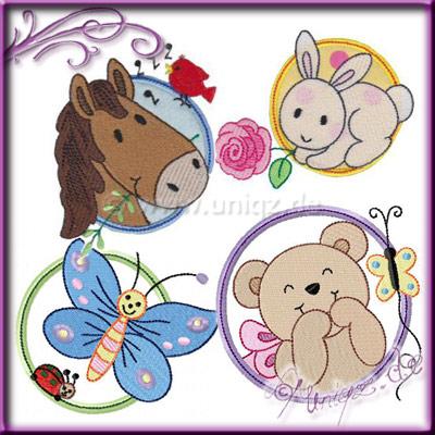 Pferd, Schmetterling, Teddy und Hase lassen sich wunderbar auf Kissen, Decken oder Bettwäsche applizieren.