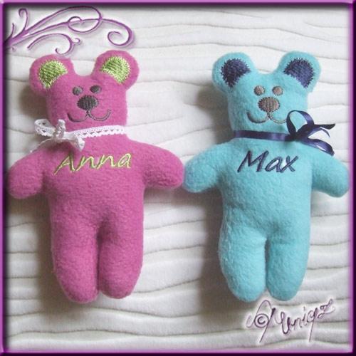 Kleiner Teddy mit Namen fürs Baby