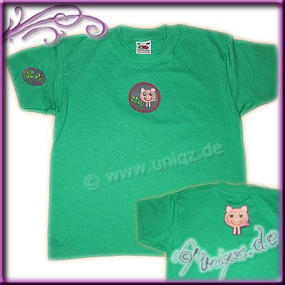 Kindershirt mit Schweinchenmotiv, gerne auch mit Namen.