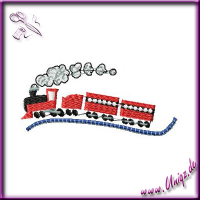 Stickerei: Eisenbahn