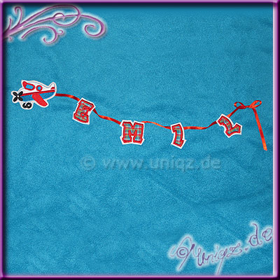 Polarfleecedecke mit Flugzeugstickerei und Namen
