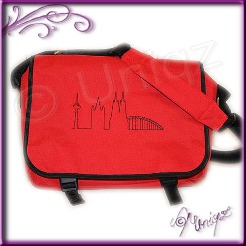 Messenger-Tasche mit Kölner Skyline