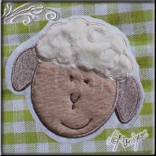 Schaf - Serie Muuh, Stickdatei Bauernhoftiere