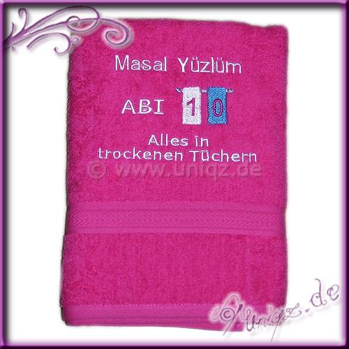 Ai 2010: Duschtuch mit Namen und Abitur-Spruch