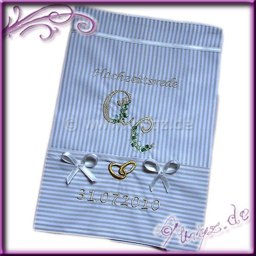 Umschlag für die Hochzeitsrede