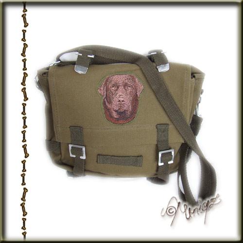Canvas Tasche mit aufgesticktem Labrador-Kopf