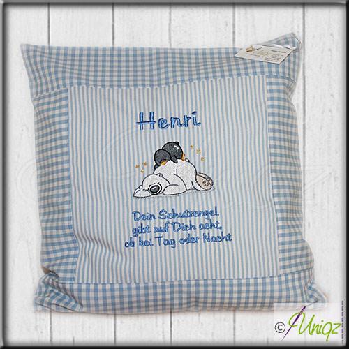 Kinderkissen Eisbär und Pingi - für Henri