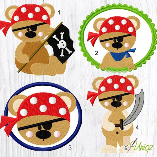 Stickmuster Piratenbären