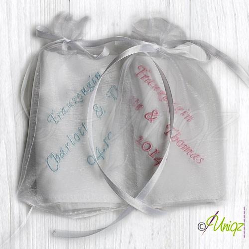 Hochzeit  Taschentücher im Organzabeutelchen