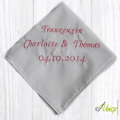 Taschentuch für die Trauzeugin
