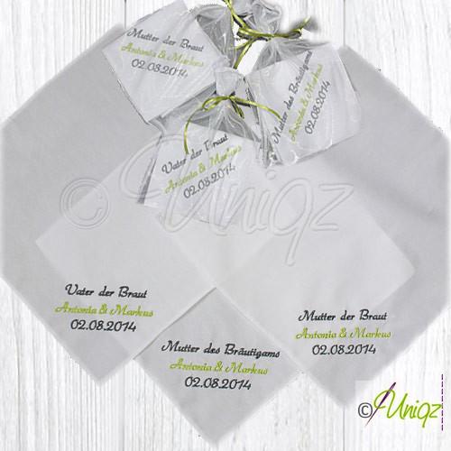 Hochzeits Taschentücher