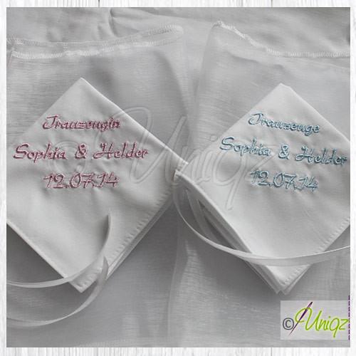Trauzeugen Taschentücher