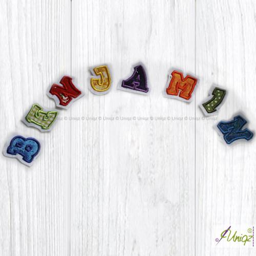 Buchstaben zum selbst aufnähen