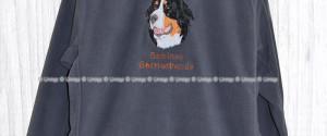 Damen Fleecejacke mit Berner Sennenhund Stickerei