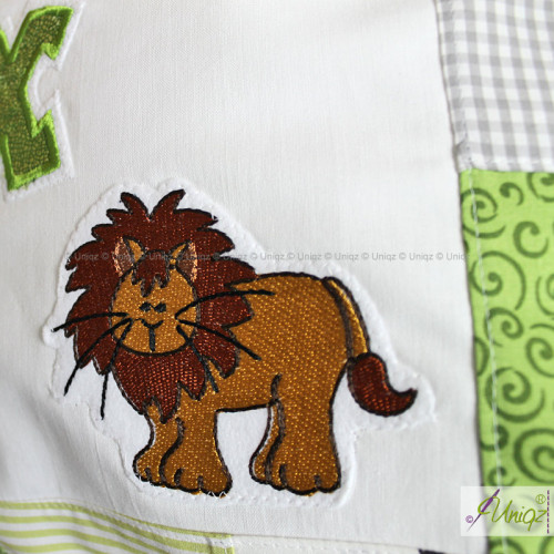 Detailansicht: Löwe, Kinderkissen Dschungel