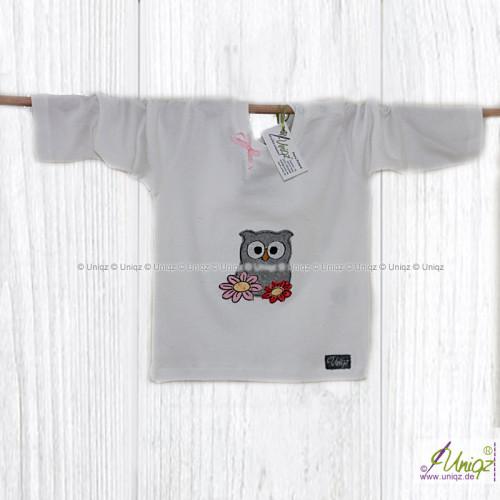 Langarm T-Shirt, Eule Carina
