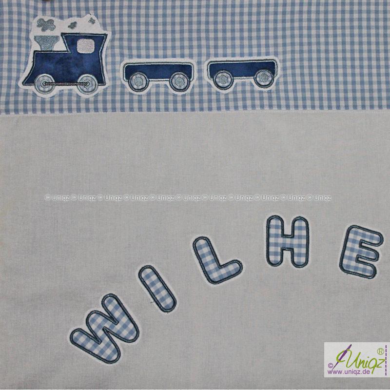 Kinderdecke Eisenbahn mit Namen