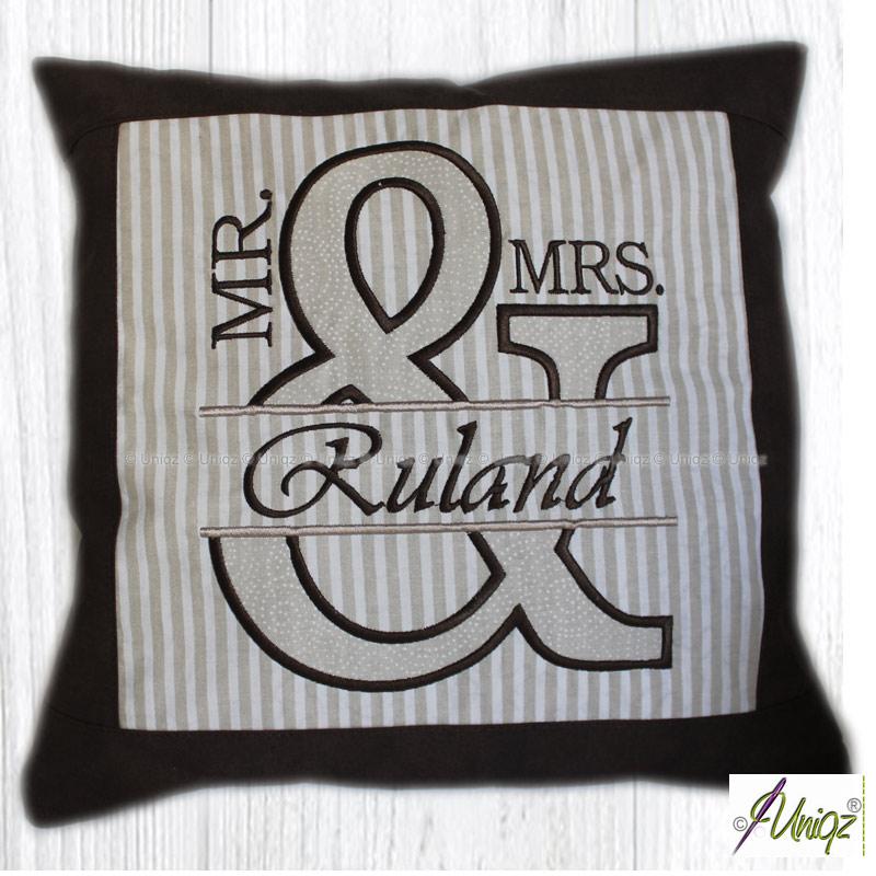 Mr. & Mrs. - Kissen, Hochzeitsgeschenk