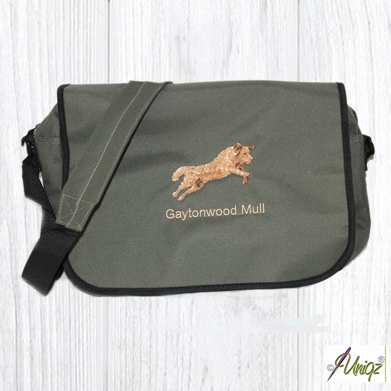 Dummy- oder Messengertasche mit Golden Retriever