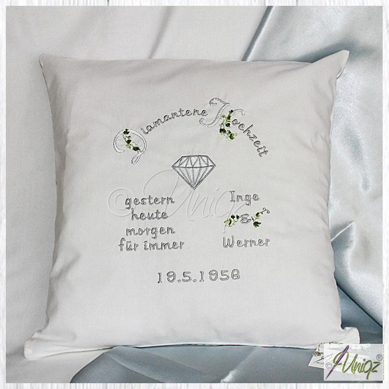 Was schenkt man zur Diamantenen Hochzeit? Uniqz hat die passende Geschenkidee.