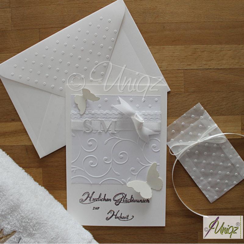 Hochzeitskarte, individuell handgemacht
