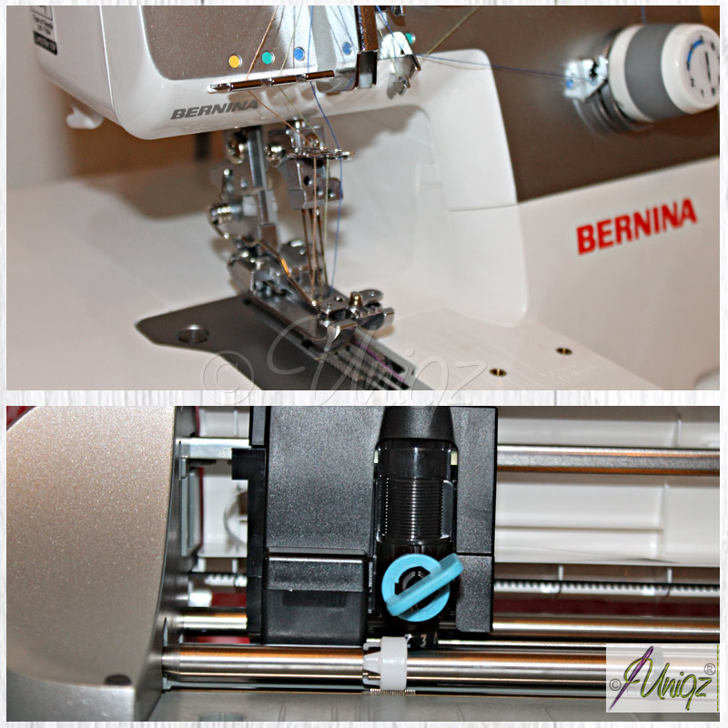 Coverlock Bernina L 220, Plotter Silhouette Portrait