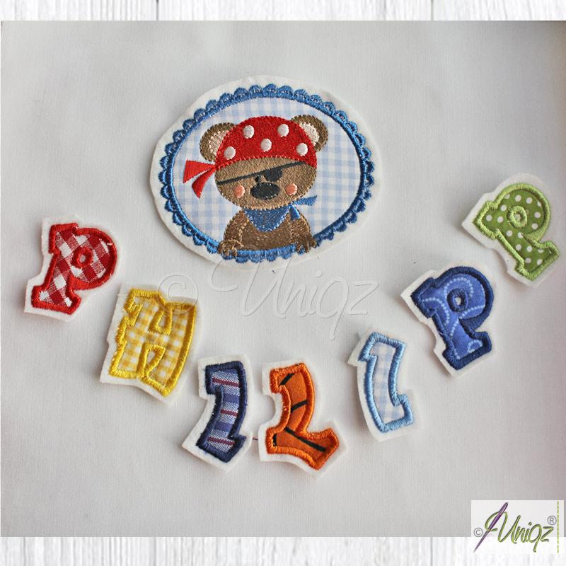Fertig gestickte Buchstaben zum aufnähen oder kleben