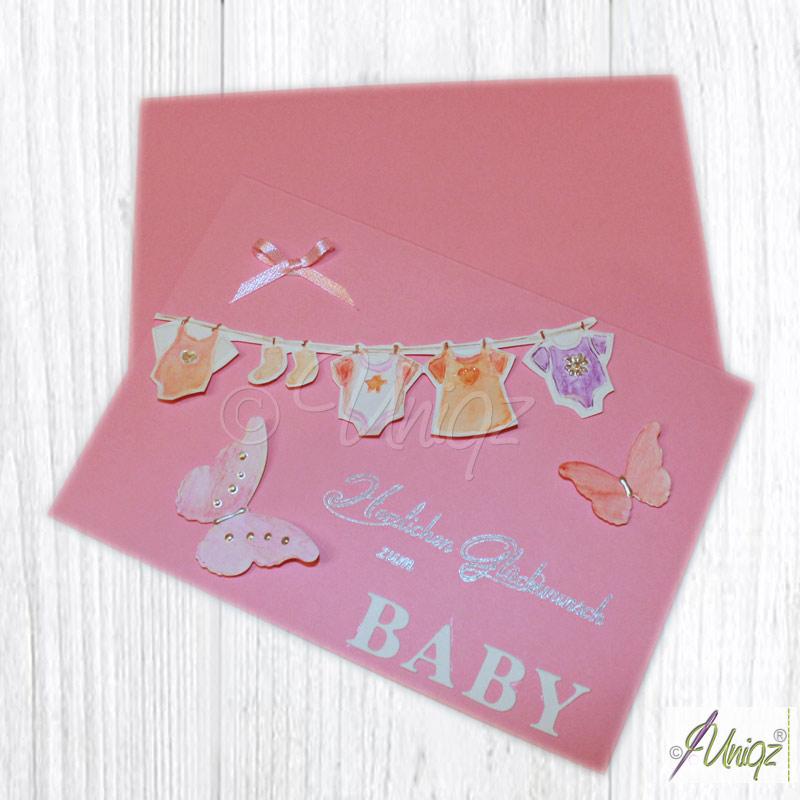 Glückwunschkarte zur Geburt