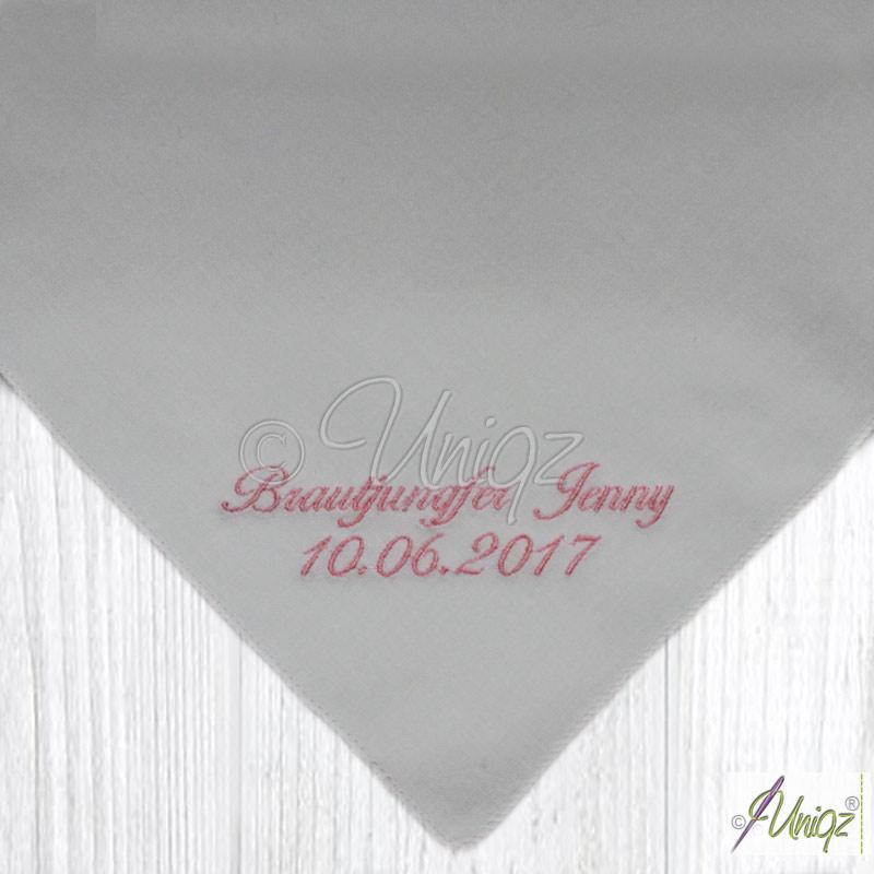 Taschentuch für die Brautjungfer
