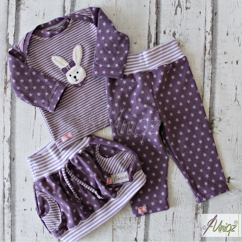 Babyset aus T-Shirt, Leggings und Ballonröckchen