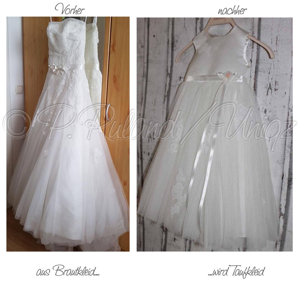 Ein Brautkleid wird zum Taufkleid