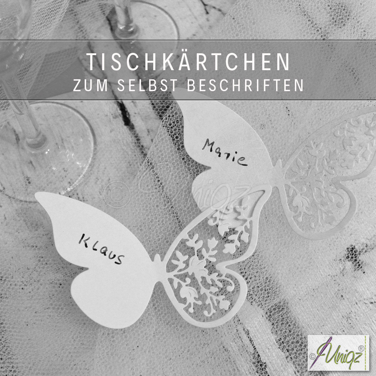 Neu im Shop: Schmetterlings-Tischkarten