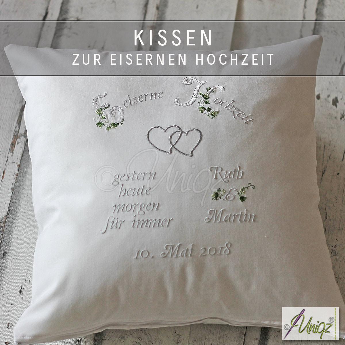 Kissen zur Eisernen Hochzeit