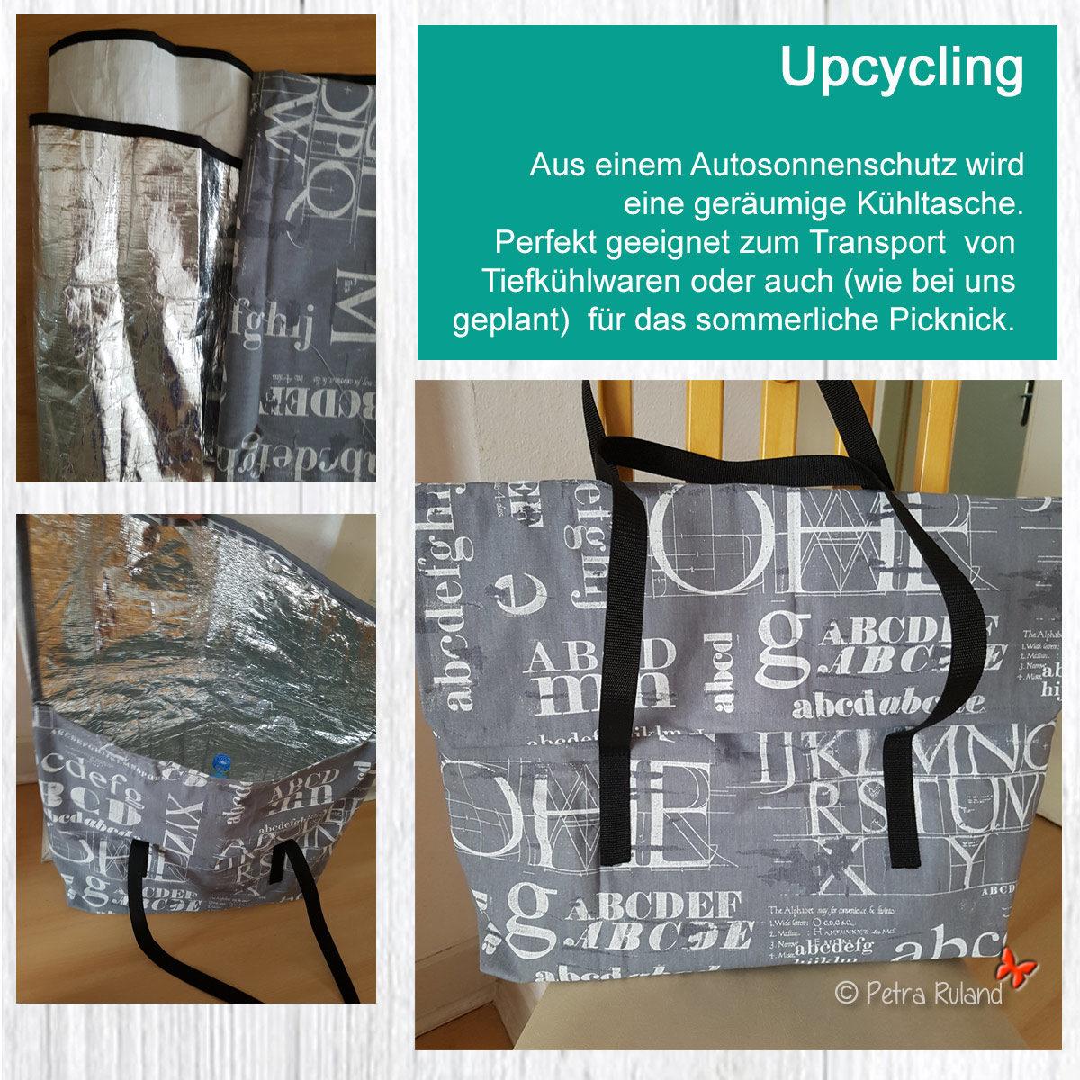 Upcycling – aus Autosonnenschutz wird Kühltasche