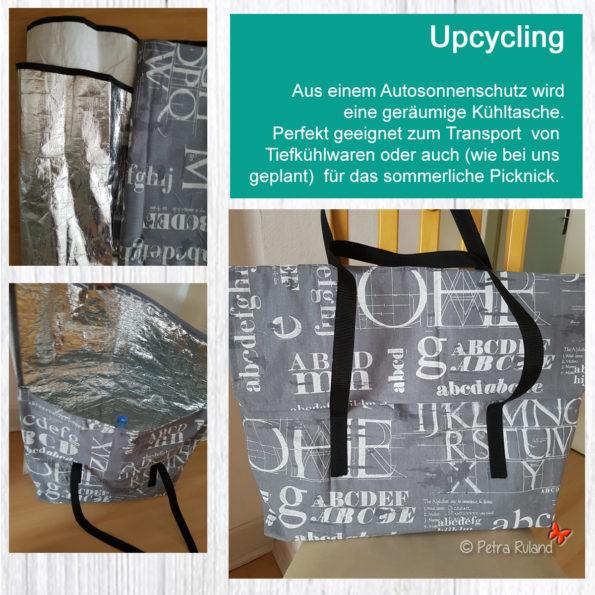 Upcycling - Kühltasche aus Autosonnenschutz