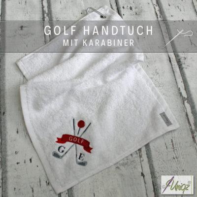 Golfhandtuch mit Initialen