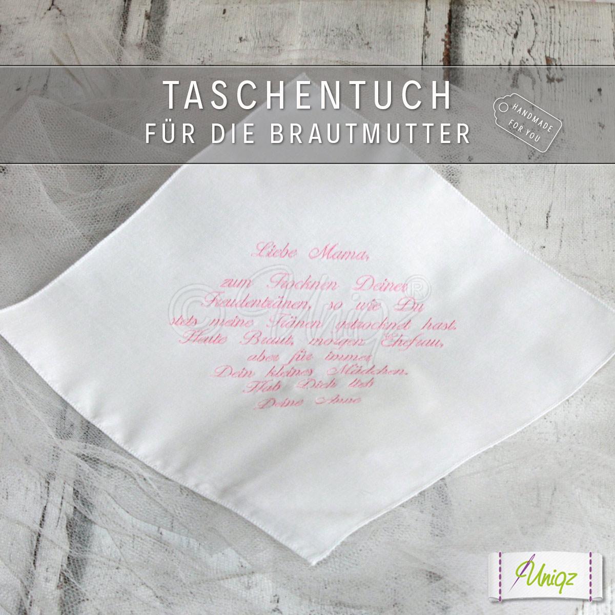 Taschentuch für die Brautmutter