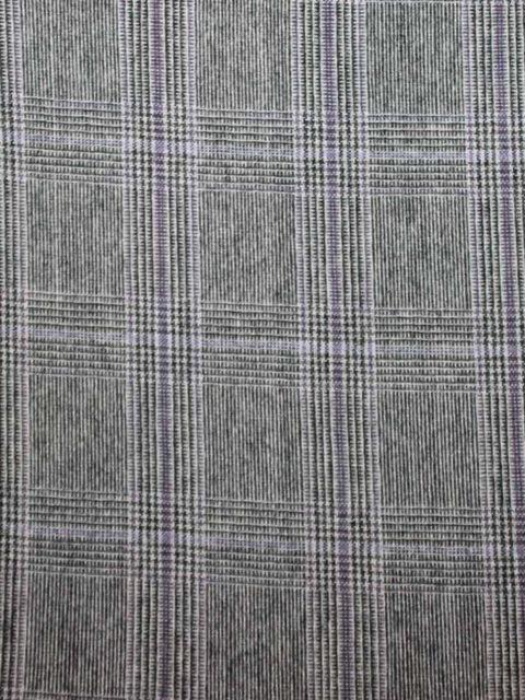 Glencheck mit Wollanteil, sehr schöne Qualität, grau/lila, ca. 100 x 140 cm   10 €