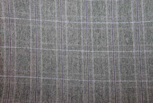 Glencheck mit Wollanteil, sehr schöne Qualität, grau/lila, ca. 100 x 140 cm | 10 €