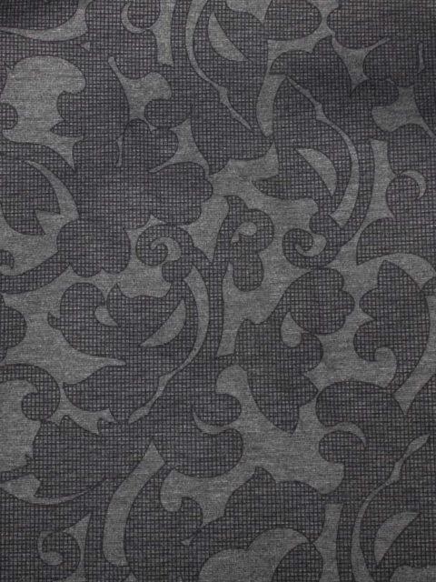 Romanit mit Barockmuster, d.-grau/schwarz (real etwas dunkler), ca. 190 x 140 cm   12 €
