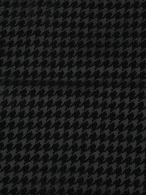 Romanit mit samtigem Hahnentrittdruck, schwarz/schwarz, ca. 80 x 140 cm   5 €