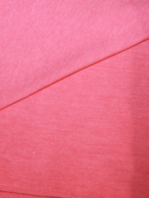 Bw.-French Terry mit Elasthan, ganz zart meliert, hummer, ca. 150 x 140 cm   10 €