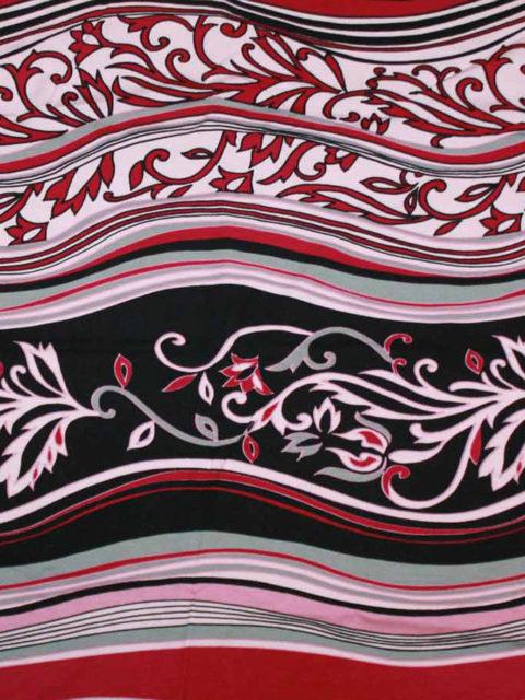 Viscose-Jersey fließend, rosa-d.-rot-weiß-schwarz-grau, ca. 140 x 140 cm