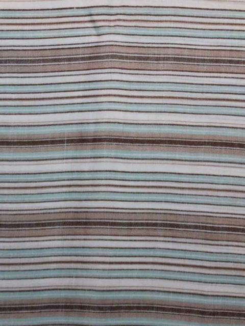 Leinenmix, Blusen-/Hemdenstoff gewaschen, türkis, weiß, taupe, ca. 150 x 140 cm | 4 €