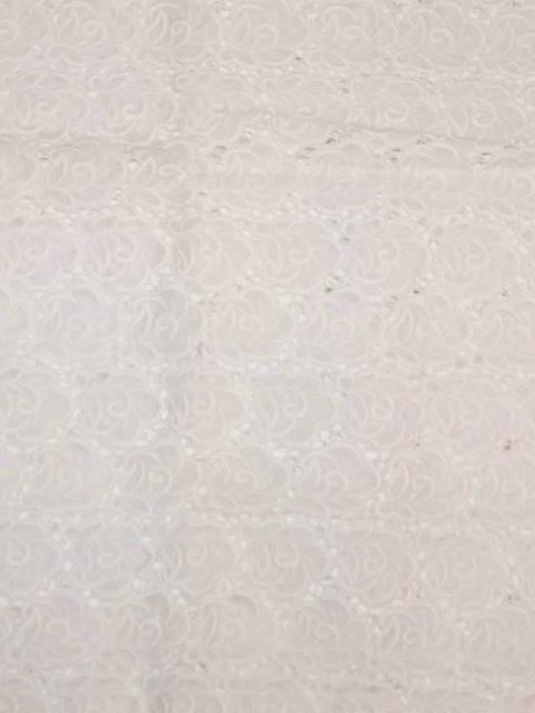 Hochwertige schweizer Guipurespitze, reinweiß, ca. 200 x 80 cm   20 €