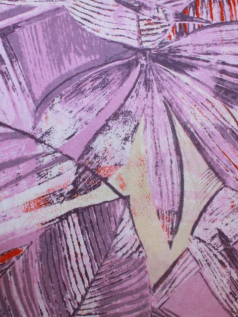 Viscose Lavable, flieder-weiß-lila-rot, ca. 140 x 140 cm | 5 €