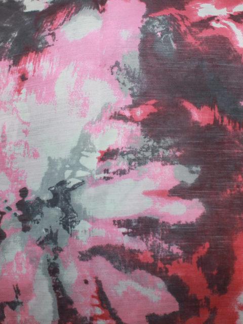 Viscose Crépe, rosa-weiß-grau-pink, ca. 160 x 140 cm | 4 €