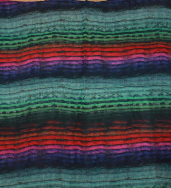 Transparenter Chiffon in leuchtenden Farben - toll für Lagenlook, Synth. ca. 150 x 140 cm   6,- €