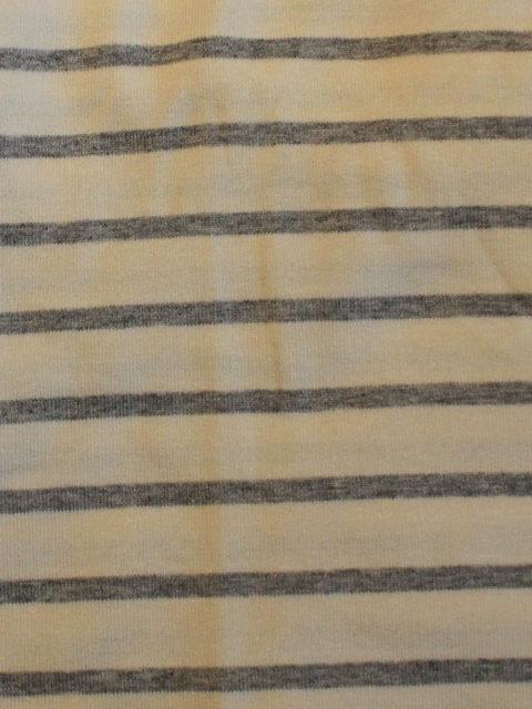 Viscose-Jersey Streifen, ecru-graumeliert, ca. 50 x 140 cm | 2,- €