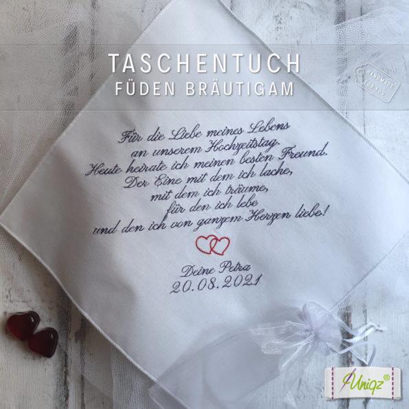 Taschentuch für den Bräutigam